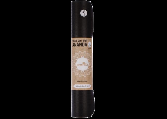 Στρώμα Γιόγκα Niyamas Pro Ananda Black Yoga Mat