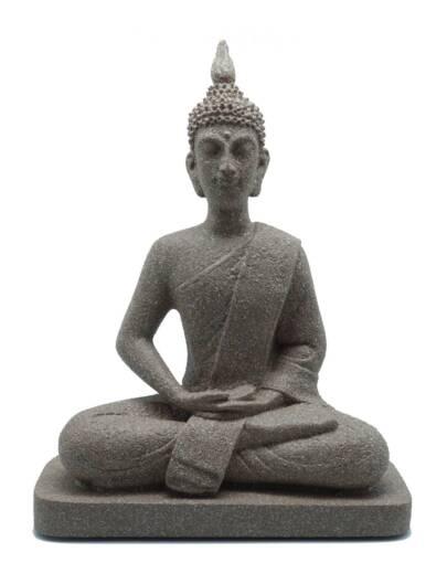 Χειροποίητο Γλυπτό Buddha από Αλάβαστρο σε βάση